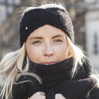 20's Style Headband Black